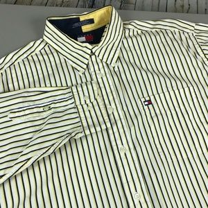 VTG Tommy Hilfiger Long Sleeve Button Down Size XL